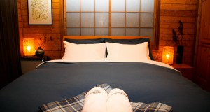 Hakuba Big Bear Chalet Western bed