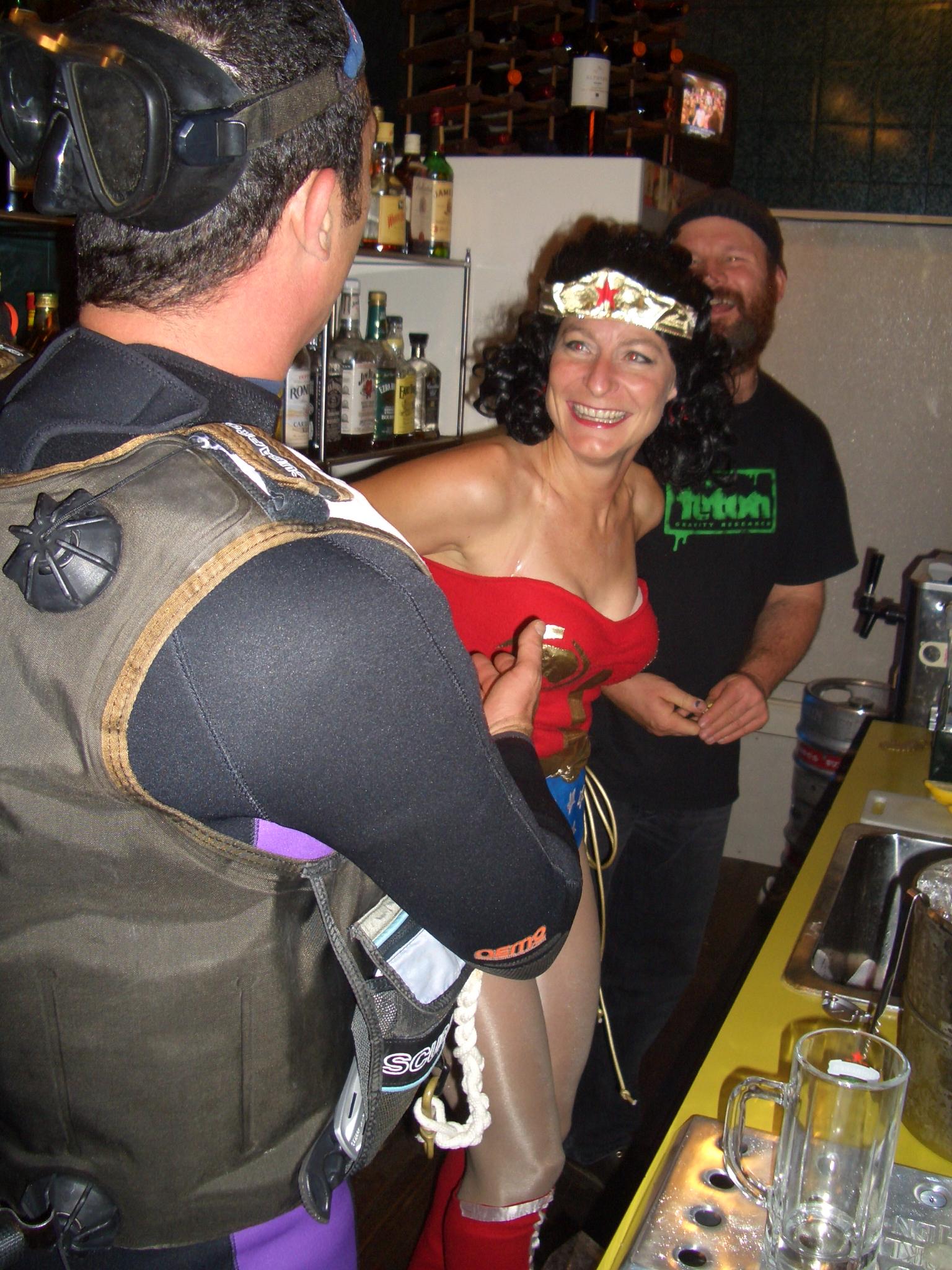 Diver takes on Wonderwoman