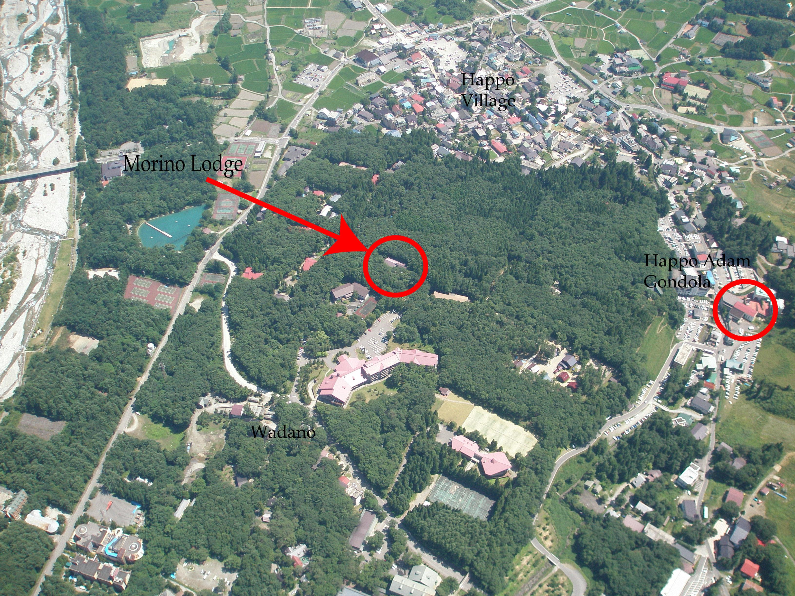 Hakuba aerial shot