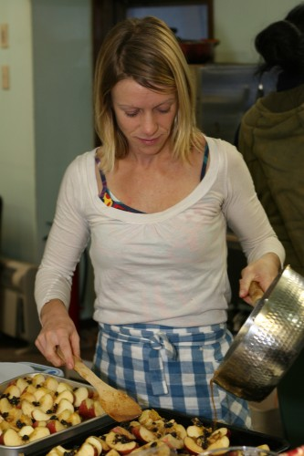 Jen prepares the Baked Apples