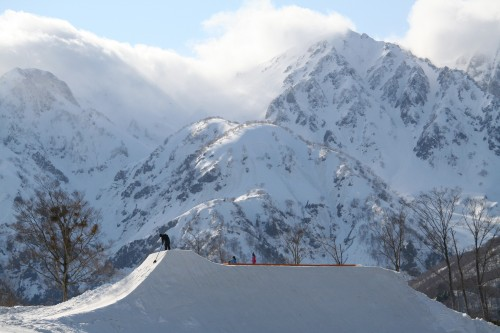 High Cascade Snowboard Park hip